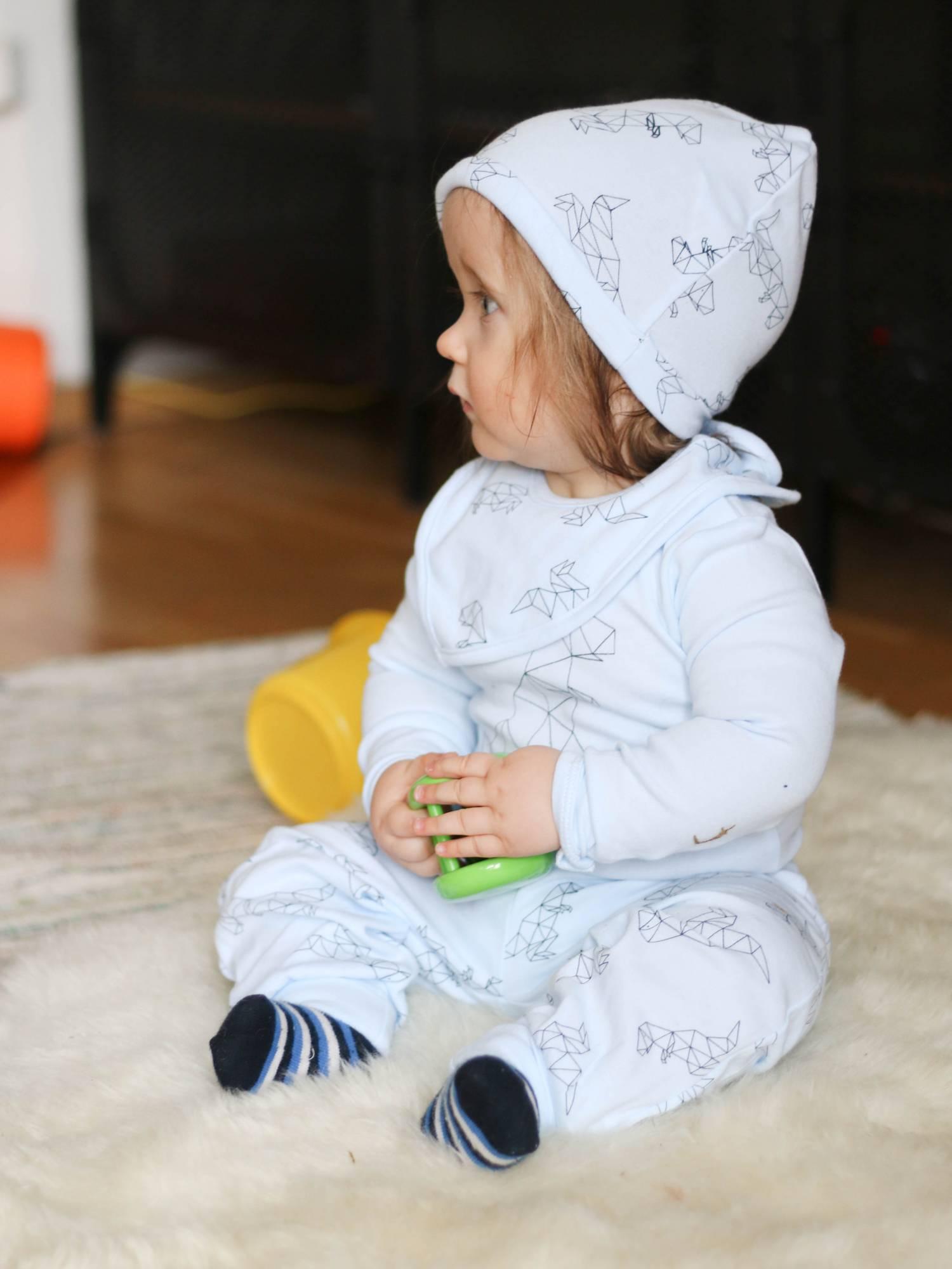 Vauvan baby blue-asu ja ARVONTA!