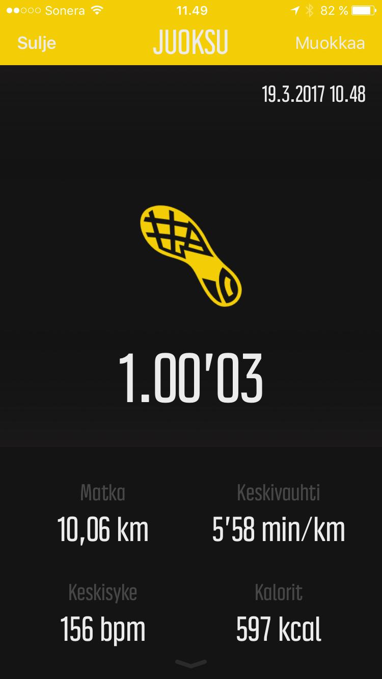 Minä ja juokseminen