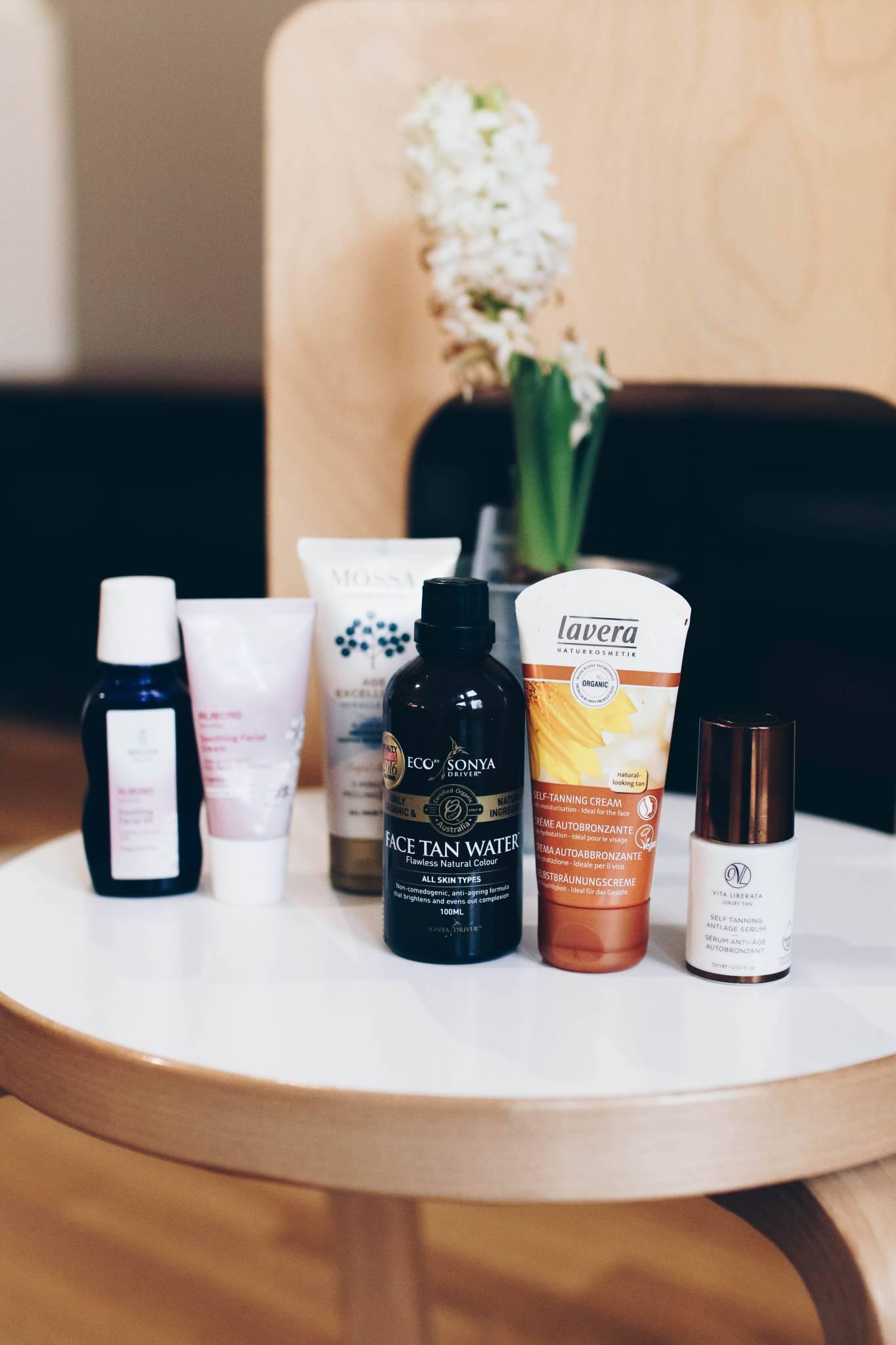 Kolme loistavaa itseruskettavaa kasvoille + talvi-ihon täsmätuotteita