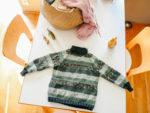 DIY: Raglankavennusten harjoittelua ja villapaita lapselle